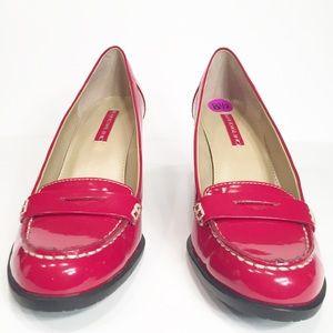 Bandolino Shoes - Bandolino Red Chunky Heels